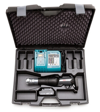 HeatLink Slim-line Press Tool in Hard Case with Battery and Charger