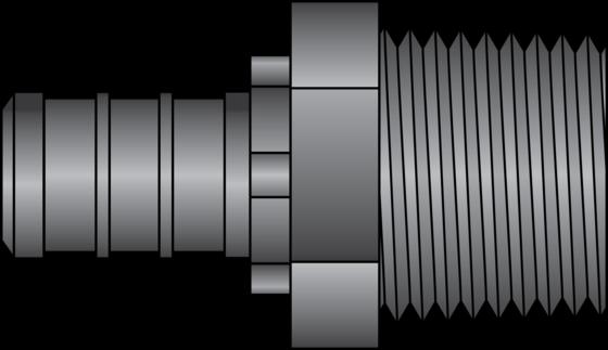 "Graphic of 1/2"" PEX × 1/2"" MNPT HPP Adapter"