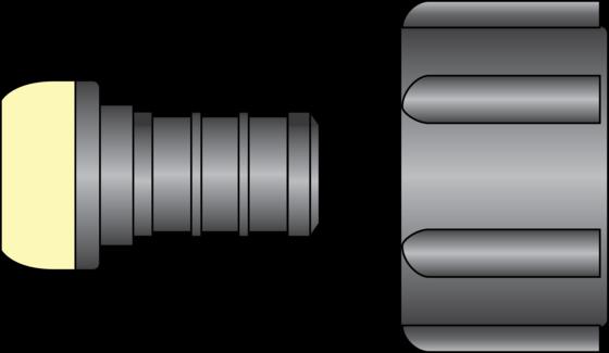 "Graphic of 1/2"" PEX × Ballcock/Closet FNPT Swivel HPP Adapter"
