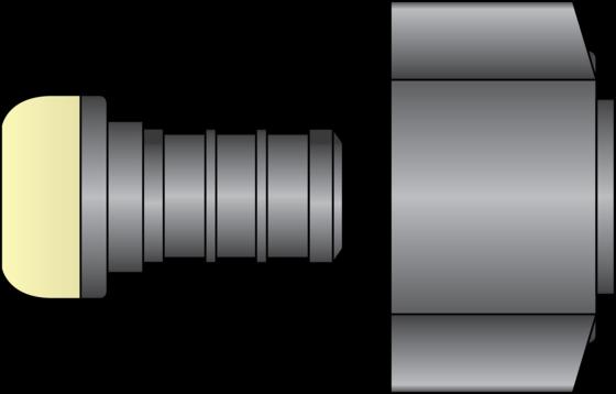 "Graphic of 1/2"" PEX × 1/2"" FNPT Swivel HPP Adapter"