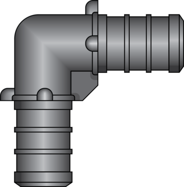 "Graphic of 1/2"" × 1/2"" PEX HPP Elbow"