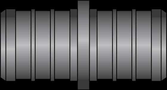 "Graphic of 3/4"" × 3/4"" PEX HPP Coupling"