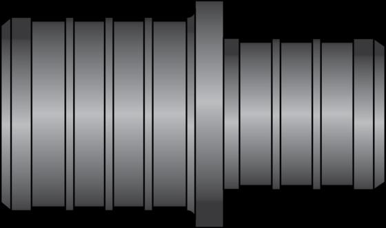 "Graphic of 1"" × 3/4"" PEX HPP Coupling"