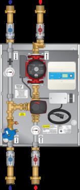 "Graphic of 3-Way Mixing Panel 1-1/4"" 26-150 Pump Snow Melt"