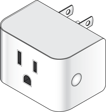 Graphic of Wireless Smart Plug / Repeater