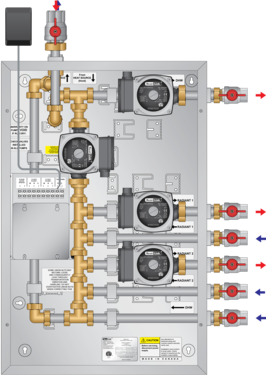 Graphic of CAD Boiler Panel High Capacity 4 Pump