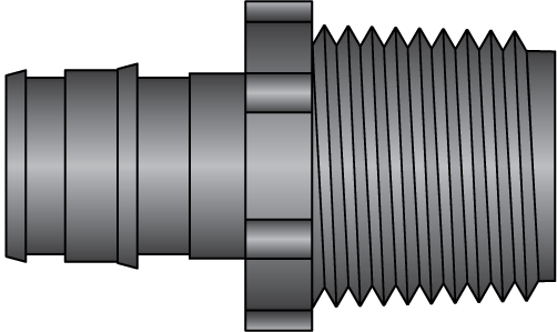 "Graphic of 1/2"" PEX F1960 × 1/2"" MNPT HPP Adapter"