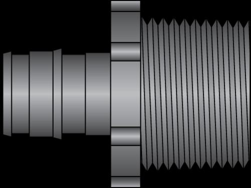 "Graphic of 1/2"" PEX F1960 × 3/4"" MNPT HPP Adapter"