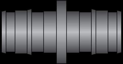 "Graphic of 1/2"" × 1/2"" PEX F1960 HPP Coupling"