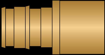 "Graphic of 1/2"" PEX F1960 × 1/2"" F/Sweat No Lead Brass Adapter"