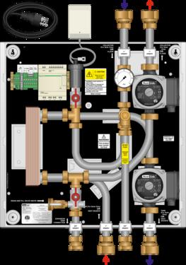 Graphic of HEP 25MBH Isolation Heat Exchanger Panel