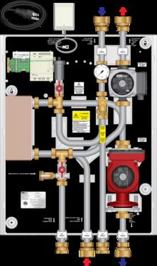 Graphic of HEP 95MBH Isolation Heat Exchanger Panel