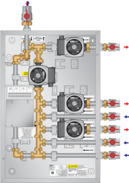 Graphic of Panel for Knight Wall Mount Boiler (4 Pump)