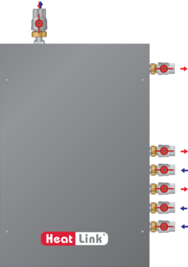 Graphic of Panel for Knight Wall Mount Boiler (4 Pump) with cover