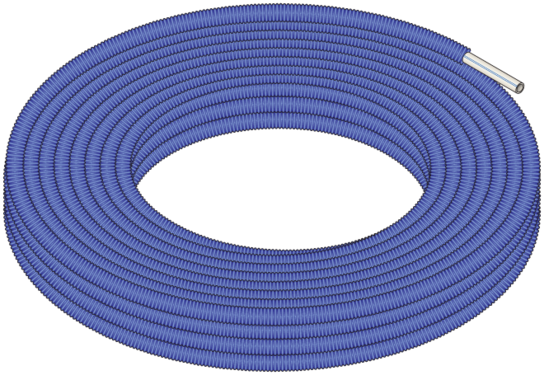 Graphic of Blue Pipe-in-Pipe Coil