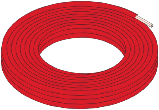 Graphic of Red Pipe-in-Pipe Coil