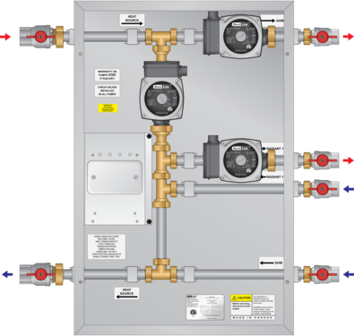 Graphic of TFT01 Boiler Panel 3 Pump