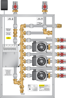 Graphic of V100 Boiler Panel 3 Htg