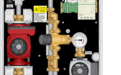 Graphic of TWH 70MBH HH Tankless Water Heater Mixing Panel