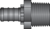 "Graphic of 1/2"" PEX × 1/2"" MNPT HPP Adapter"