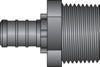 "Graphic of 1/2"" PEX × 3/4"" MNPT HPP Adapter"