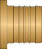 "Graphic of 1-1/2"" PEX No Lead Brass Plug"