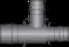 "Graphic of 1"" × 3/4"" × 3/4"" PEX F1960 HPP Tee"