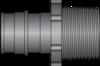 "Graphic of 3/4"" PEX F1960 × 3/4"" MNPT HPP Adapter"