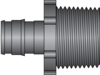 "Graphic of 1/2"" PEX F1960 × 3/4"" MNPT HPP Adapter"
