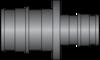 "Graphic of 3/4"" × 1/2"" PEX F1960 HPP Coupling"