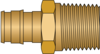 "Graphic of 1/2"" PEX F1960 × 1/2"" MNPT No Lead Brass Adapter"