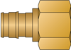 "Graphic of 1/2"" PEX F1960 × 1/2"" FNPT No Lead Brass Adapter"