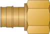 "Graphic of 1"" PEX F1960 × 1"" FNPT No Lead Brass Adapter"