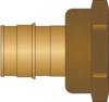 "Graphic of 1-1/2"" PEX F1960 × 1-1/2"" FNPT No Lead Brass Adapter"