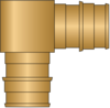 "Graphic of 3/4"" × 3/4"" PEX F1960 No Lead Brass Elbow"