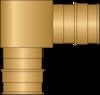 "Graphic of 1"" × 1"" PEX F1960 No Lead Brass Elbow"