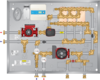 Graphic of SMP 365MBH SS Snow Melt Panel 3×30 HEX & HH Pump